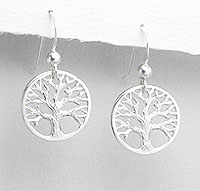 Tree Of Life Earrings in Sterling Silver, have Matching Necklace