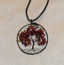 tree of life necklace with three pendants