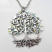 tree of life necklace with copper tree pendant upside down